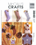 McCall's 3840 Crafts Sewing Pattern Christmas Decorations
