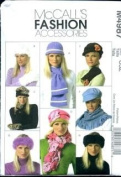 McCall's 4987 Craft Pattern, Hat & Scarves