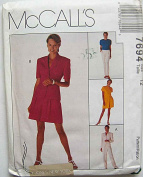 McCall's 7694 Sewing Pattern ~ Jones New York Misses' Lined Jacket, Top, Pull-On Pants and Shorts Size 12