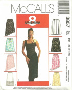 Misses Lined And Unlined Skirts McCall's Sewing Pattern 3857 (Size DD