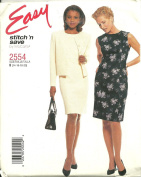 Misses Unlined Jacket And Dress McCall's Sewing Pattern 2554. (Size A