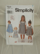 Simplicity Sewing Pattern #7634 :Toddlers' & Child's Dress and Pinafore