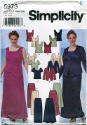 Simplicity Sewing Pattern 5973 Size GG (26W-32W) Women's Evening Jacket, Slim and Flared Skirts and Lined Tops
