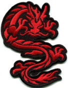 Chinese Dragon Kung Fu Martial Arts Biker Tattoo Applique Iron-on Patch S-362 Handmade Design From Thailand