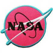 NASA Logo Iron on Patches #Pink
