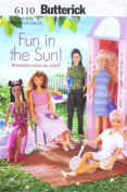 Butterick 6110 Sewing Pattern Fashion Doll Clothes