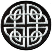 Celtic Knot Irish Goth Biker Tattoo Wicca Magic Appliques Hat Cap Polo Backpack Clothing Jacket Shirt DIY Embroidered Iron On / Sew On Patch #5