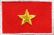 Flag of Vietnam Vietnamese Southeast Asia Applique Iron-on Patch Medium S-651 Handmade Design From Thailand