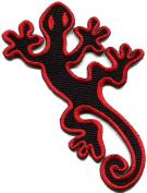 Lizard Gekko Salamander Retro Hippie Hippy Boho Fun Applique Iron-on Patch S-605 Handmade Design From Thailand