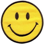 Smiley Face Retro Boho Hippie 70s Fun Smile Applique Iron-on Patch New S-716 Handmade Design From Thailand