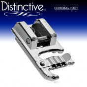 Distinctive Cording Sewing Machine Presser Foot - Fits All Low Shank Snap-On Singer*, Brother, Babylock, Euro-Pro, Janome, Kenmore, White, Juki, New Home, Simplicity, Elna and More!