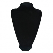 New S 18cm Black Velvet Necklaces Pendants Jewellery Display Bust Neck Forms Stand