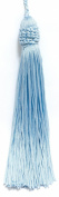 Set of 10 ARCTIC BLUE Crown Head Chainette Tassel, 14cm Long with 5.1cm Loop, Basic Trim Collection Style# CT055 Colour