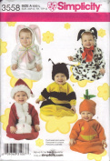 Simplicity Sewing Pattern 3558 Baby Bunting and Hats Costumes