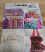 Butterick Sewing Pattern B4534 Alphabet Pillows