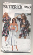 Butterick Misses Shirt, Bra, Shorts and Skirt Sewing Pattern # 5673