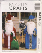 McCall Crafts Sewing Pattern 3424 - Use to Make - Stuffed 80cm tall Santa and Wizard Greeters