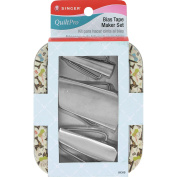 Singer NOM081129 QuiltPro Bias Tape Maker Set In Decorative Tin