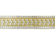 Metallic Brocade Trim By Shine Trim - Silver/gold