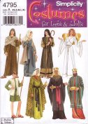 Simplicity Sewing Pattern 4795 Teens' & Adults' Christmas / Nativity / Angel Costumes