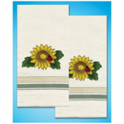 Tobin Sunflower Stamped Kitchen Towels For Embroidery