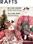 OOP McCall's Craft Pattern 7867. 80cm Stuffed Reindeer Dolls & Clothes. Mr. & Mrs. Reindeer