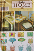 1998 Rare OOP & UNCUT SIMPLICITY HOME 8696 PLACE MATS & CHAIR PADS SEWING PATTERN