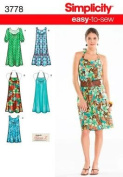 Simplicity Sewing Pattern 3778 - easy to Sew Dresses & Tunics Size