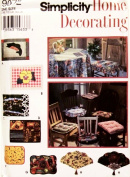 Simplicity 9072 Sewing Pattern Home Decorating Place Mats & Chair Pads
