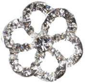 Rhinestone Button BRB-110, 1.9cm Silver Resin Base Button, Each Carded