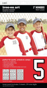 SEI 7.6cm Iron-On Team Pack Athletic Number Transfers, White, 5-Sheet
