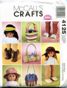 46cm Doll Accessories McCall's Crafts Sewing Pattern 4125