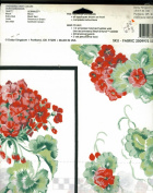 Daisy Kingdom Geranium Flower No Sew Applique # 6394