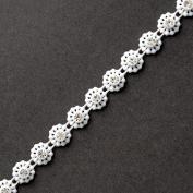 Flower Crystal Rhinestone Trim, Wedding Trim for Wedding Decoration, home decor, craft projects by 1 yard, ROI-5643