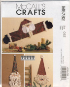McCall Crafts Sewing Pattern 5782 / M5782 - Use to Make - Santa Wall and Door Decorations