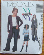 McCall's 3733 Sewing Pattern ~ Junior NY Sweatercoat in 2 Lengths, Top, Pants & Skirt, Sizes 11/12 - 13/14 - 15/16 - 17/18