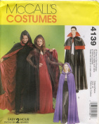 McCall Sewing Pattern 4139 - Use to Make - Easy 2 Hour Capes - 3 Styles - Misses, Mens, Teens