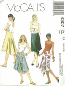 Misses Skirts McCall's Sewing Pattern 4307 (Size AA