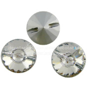 "1,2"" [30mm] Extremely High Quality, Warm Colour Crystal Upholstery, Sofa Buttons [10 Pcs]"