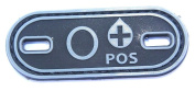 Matrix PVC Oval Blood Type Patch - O POS / Black