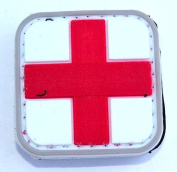 Medic Cross PVC hook and loop Patch - Red & White