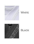 Sale 6 Assorted 80cm Vislon YKK Zippers - Number 5 Moulded Plastic - Separating - Medium Weight - Black and White
