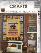 McCall's 3277 American Tradition Wall Organiser Sewing Machine Cover Pin Cushions