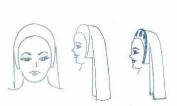 Renaissance Headdress Pattern
