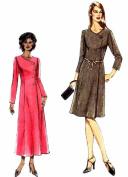 Asymmetrical Front Button Dress Vogue 7928 Sewing Pattern Size 18 - 20 - 22 - 24