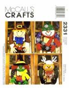 McCall's 2331 Crafts Sewing Pattern Seasonal Wreaths Christmas Thanksgiving Halloween