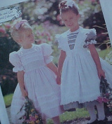 McCALL'S 8697 FANCY LITTLE GIRL'S DRESS & PINAFORE (SIZE 6,7,8) SEWING PATTERN