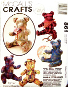 OOP McCalls Crafts Pattern 861, (Also Sold As 6833.). 38cm Adorable Stuffed Bears