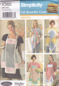 Simplicity 4360 Fat Quarter Club Aprons Designed by Teresa Nordstrom-Crafts Sewing Pattern