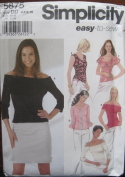 SIMPLICITY PATTERN 5875 MISSES' KNIT TOPS SIZE DD 4-10